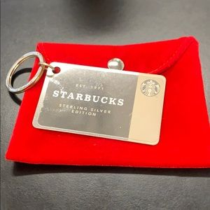 Starbucks .925 Sterling Silver Keychain Carr